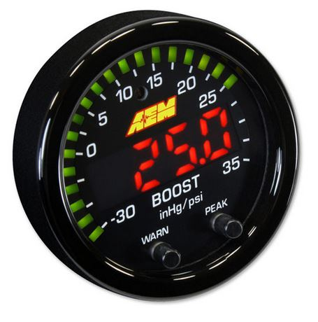 X-Series Boost Pressure Gauge -30inHg~35psi / -1~2.5bar