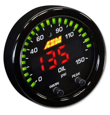 X-Series Oil Pressure Gauge 0~150psi / 0~10bar