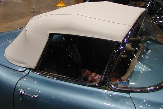 Black Convertible Top Kit - 1956 - 1958 C1 Corvette