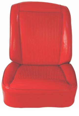 Red OEM Style Seat Covers w/ Seat Heater - 1961 C1 Corvette