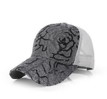 Sequins Panel Snapback