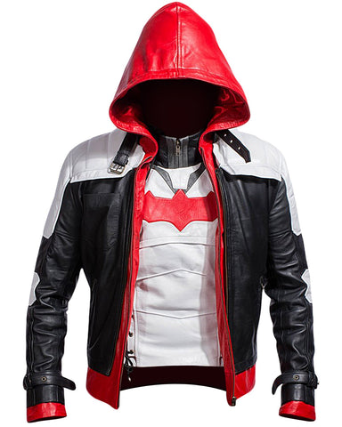 Arkham Knight Batman Red Hooded Jacket