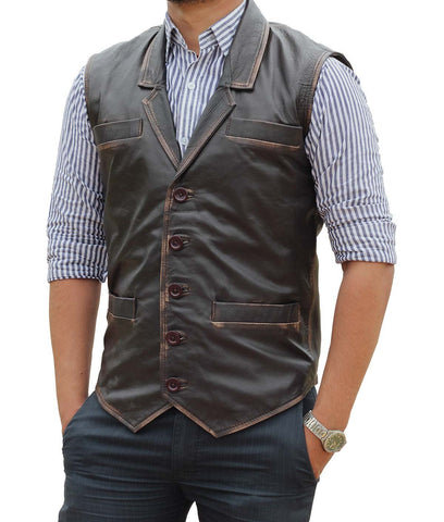 Hell on Wheels Cullen Bohannan Real Leather Vest