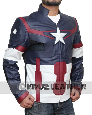 Avengers Age of Ultron Captain America Jacket - The Film Jackets