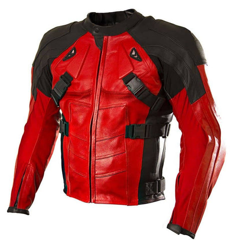 Armored Style Deadpool Bikers Leather Jacket - The Film Jackets