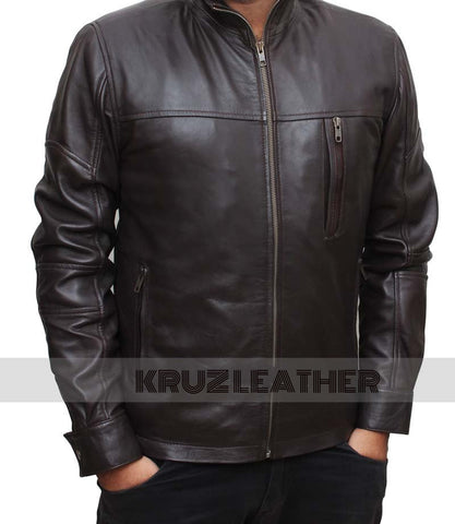 Stephen Amell Brown Leather Jacket - The Film Jackets