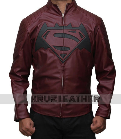 Batman V Superman Maroon Jacket - The Film Jackets