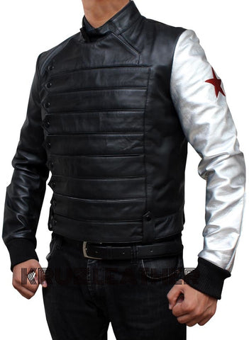 Bucky Silver Armor Jacket - The Film Jackets