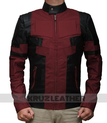 Deadpool Maroon Leather Jacket - The Film Jackets