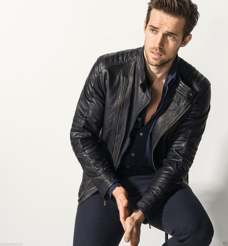FARGO LEATHER BIKER JACKET