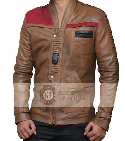 Star Wars Finn Distressed Brown Jacket - The Film Jackets