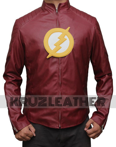 Barry Allen Maroon Leather Jacket - The Film Jackets