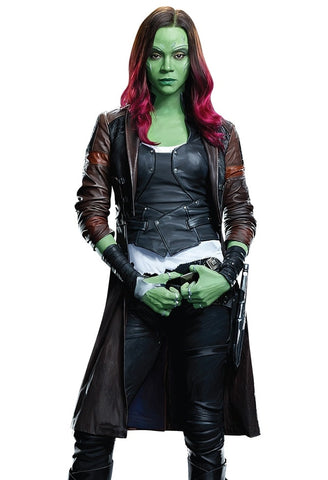 Gamora Leather Coat Guardians Of The Galaxy Vol 2
