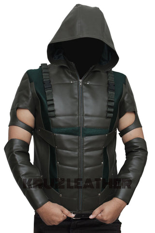 Arrow Green Hooded Vest - The Film Jackets