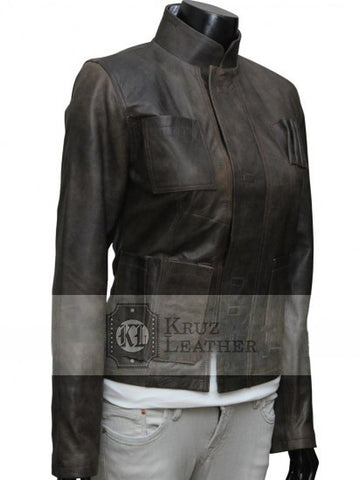 Han Solo Star Wars The Force Awakens Women Jacket - The Film Jackets