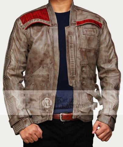 Poe Dameron Finn Brown Waxed Jacket - The Film Jackets
