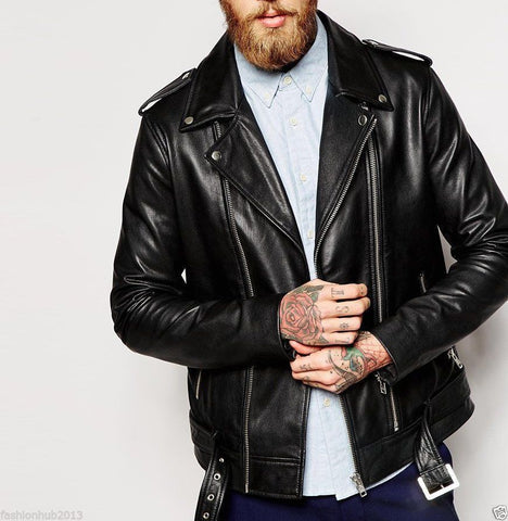 RODEY LEATHER BIKER JACKET