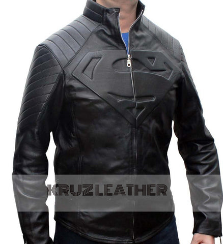 Super Leather Jacket Black for Man - The Film Jackets