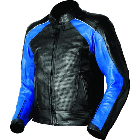 Black And Blue Armored Motorcycle Jacket - The Film Jackets