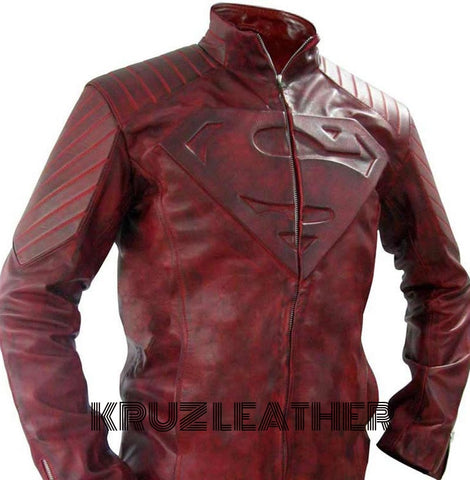 Super Hero Distressed Leather Jacket - The Film Jackets