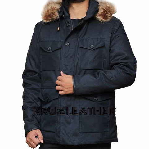Captain Cold Fur Collar Coat - The Film Jackets