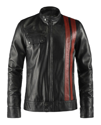 Frankenstein Black Leather Jacket