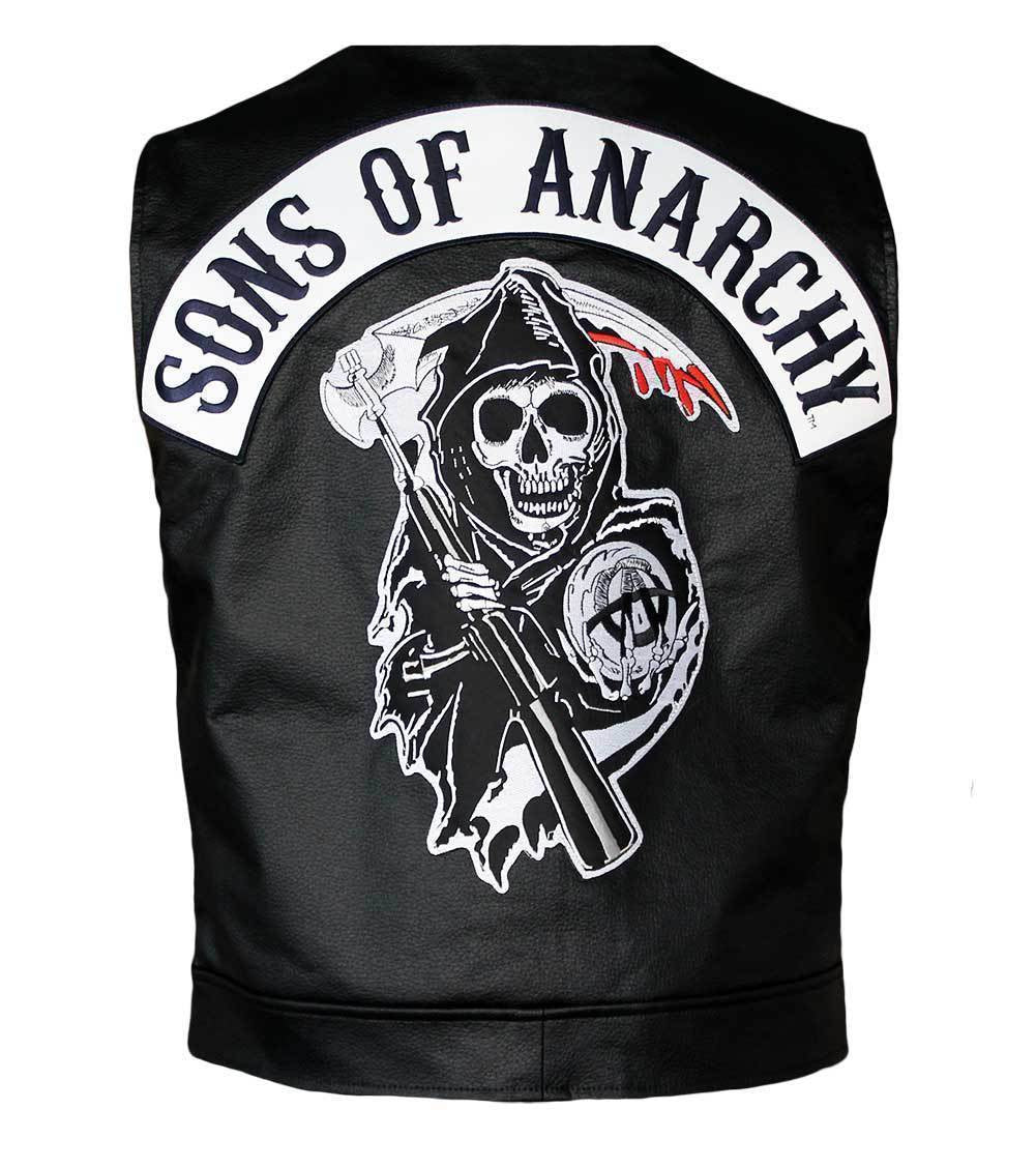 sons of anarchy leather vest the film jackets. Black Bedroom Furniture Sets. Home Design Ideas