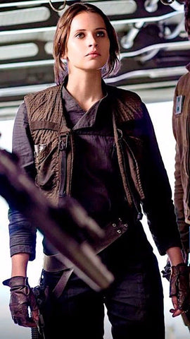 Women's Star Wars Rogue One Jyn Erso Womens Jacket with Vest