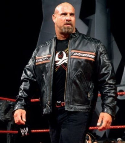 Goldberg Black Harley Davidson Biker Leather Jacket