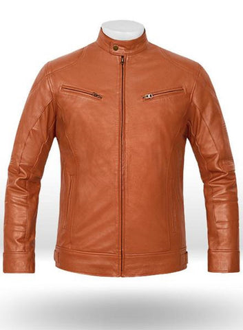 Terrain Brown Leather Jacket