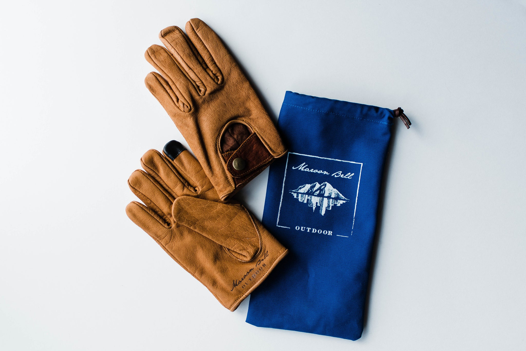 Buffalo Leather Gloves - Maroon Bell Outdoor