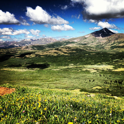 Mt. bierdstadt in the summer time maroon bell outdoor