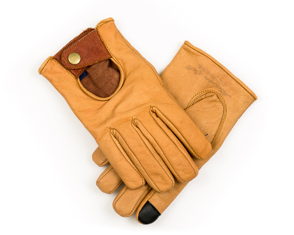 MAROON BELL OUTDOOR BUFFALO LEATHER GLOVES