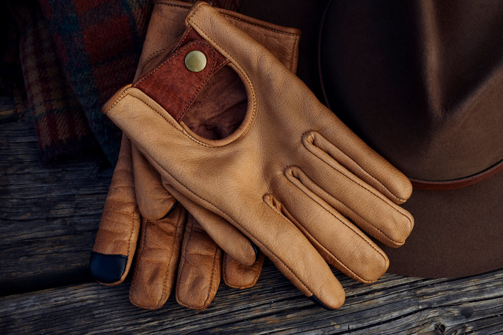 BUFFALO LEATHER GLOVES MAROON BELL OUTDOOR