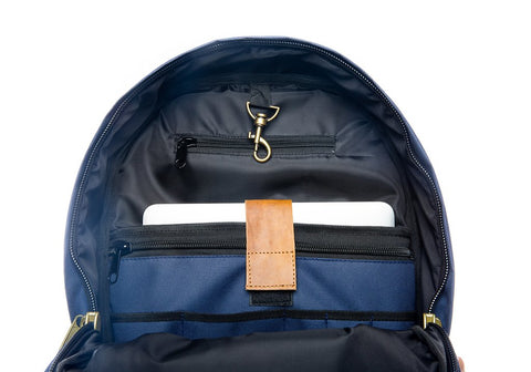 Inside pockets of The Weekender Backpack