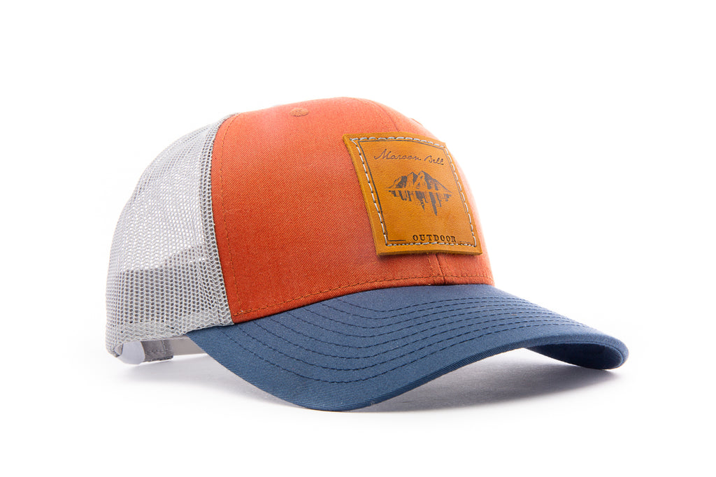 Mile High Trucker Hat with Leather Patch