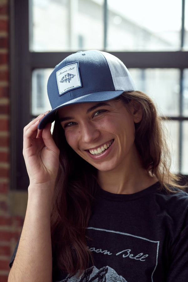 Navy Blue Trucker Hat | Maroon Bell Outdoor®