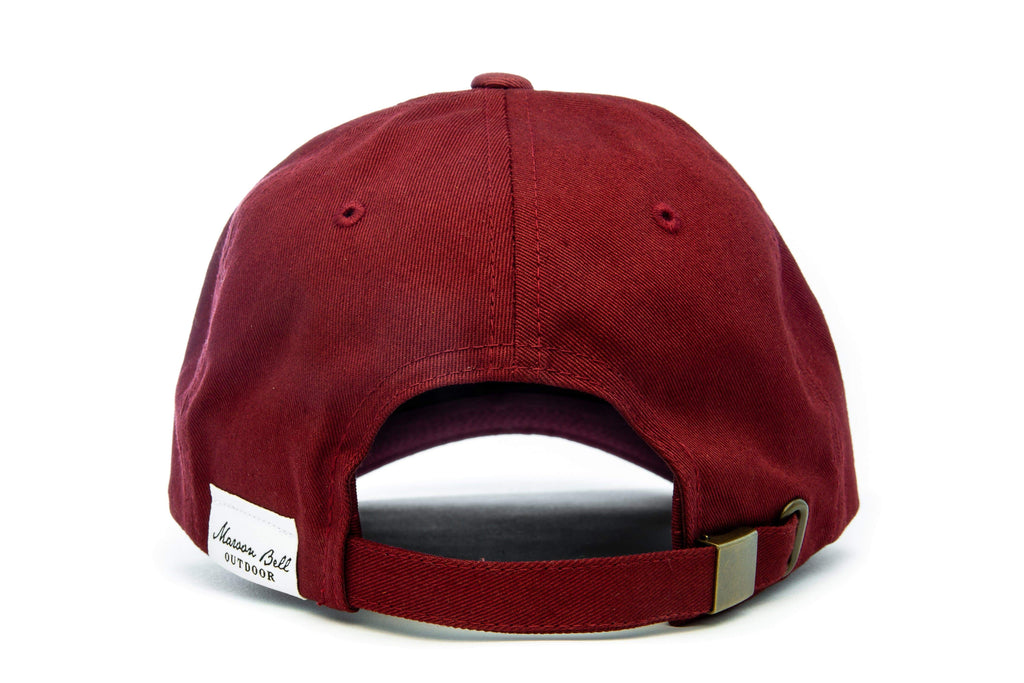 Urban Hiking Hat - Maroon with Leather Patch