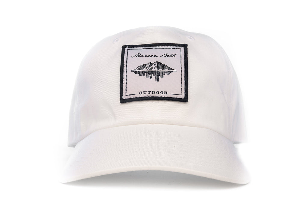 Urban Hiking Hat - White with White Patch Hats Maroon Bell Outdoor