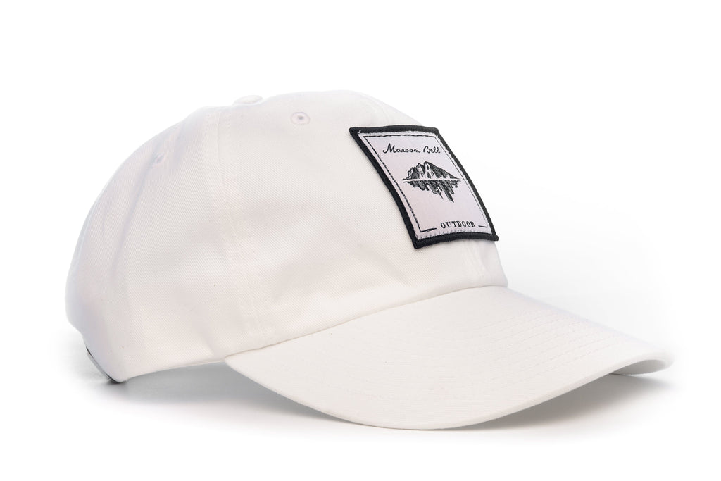 Urban Hiking Hat - White with White Patch Hats Maroon Bell Outdoor White - White Patch