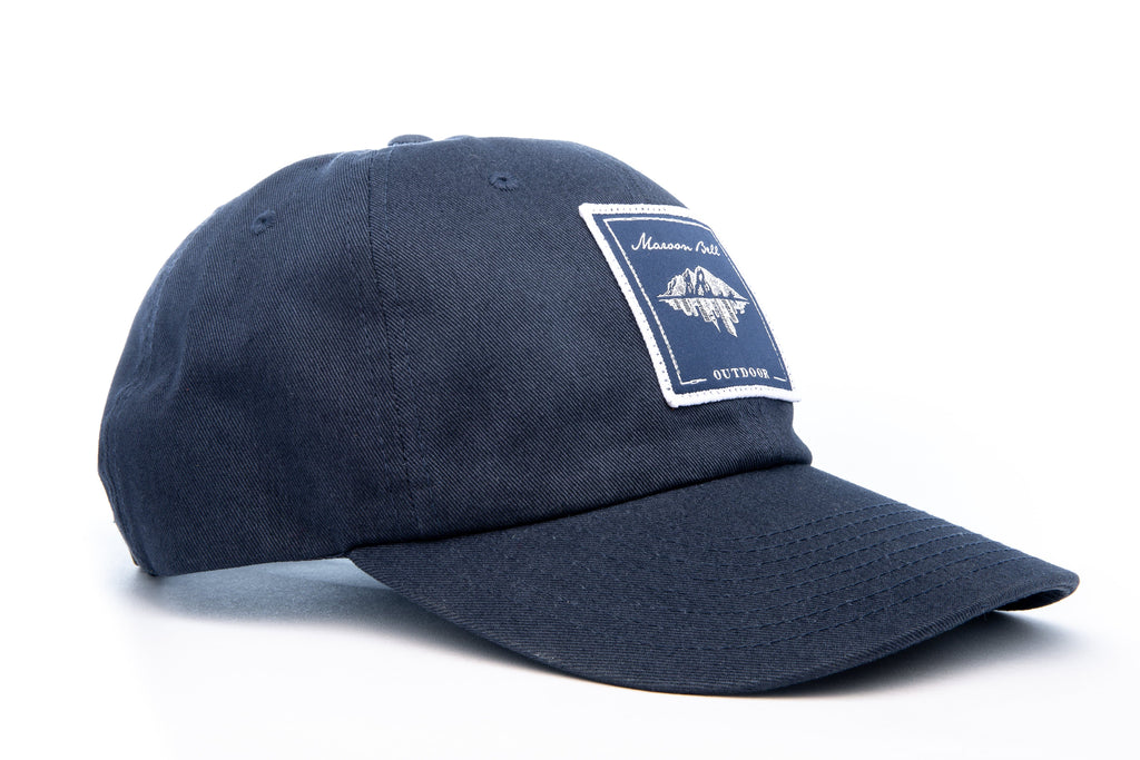 Urban Hiking Hat - Navy Blue with Blue Patch Hats Maroon Bell Outdoor Navy Blue - Blue Patch