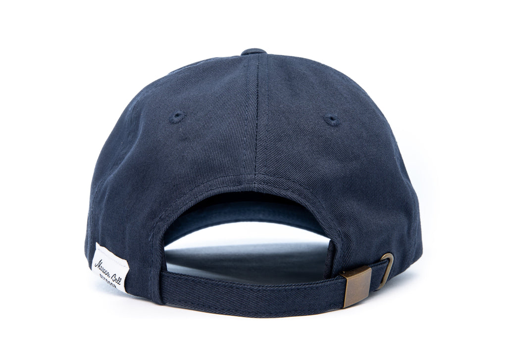 Urban Hiking Hat - Navy Blue with Leather Patch Hats Maroon Bell Outdoor