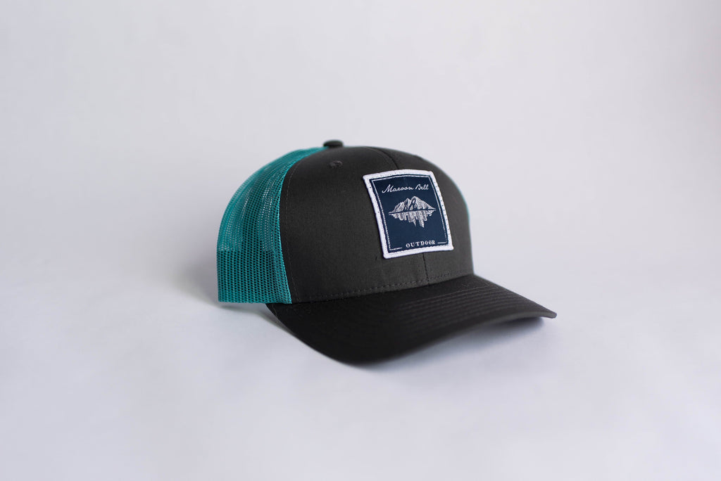 Mystic Blue Trucker Hat | Maroon Bell Outdoor®