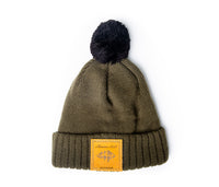Urban Outdoor Beanie with Black Pom | Olive