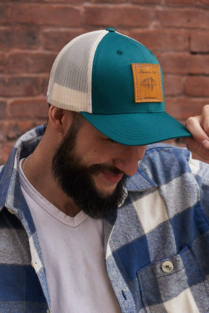 Teal Trucker Hat | Maroon Bell Outdoor®