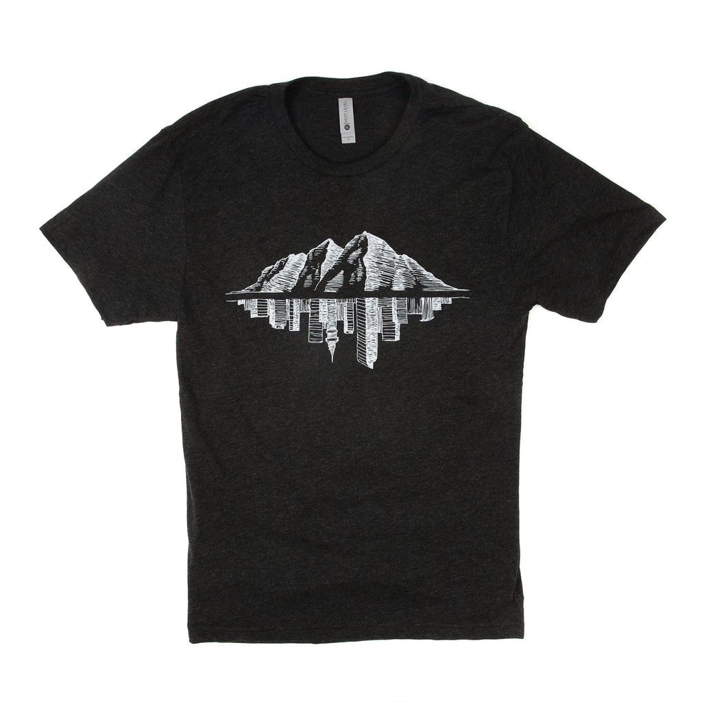 Maroon Bell Tee Shirt | Mountain Reflection | Charcoal | Maroon Bell Outdoor®