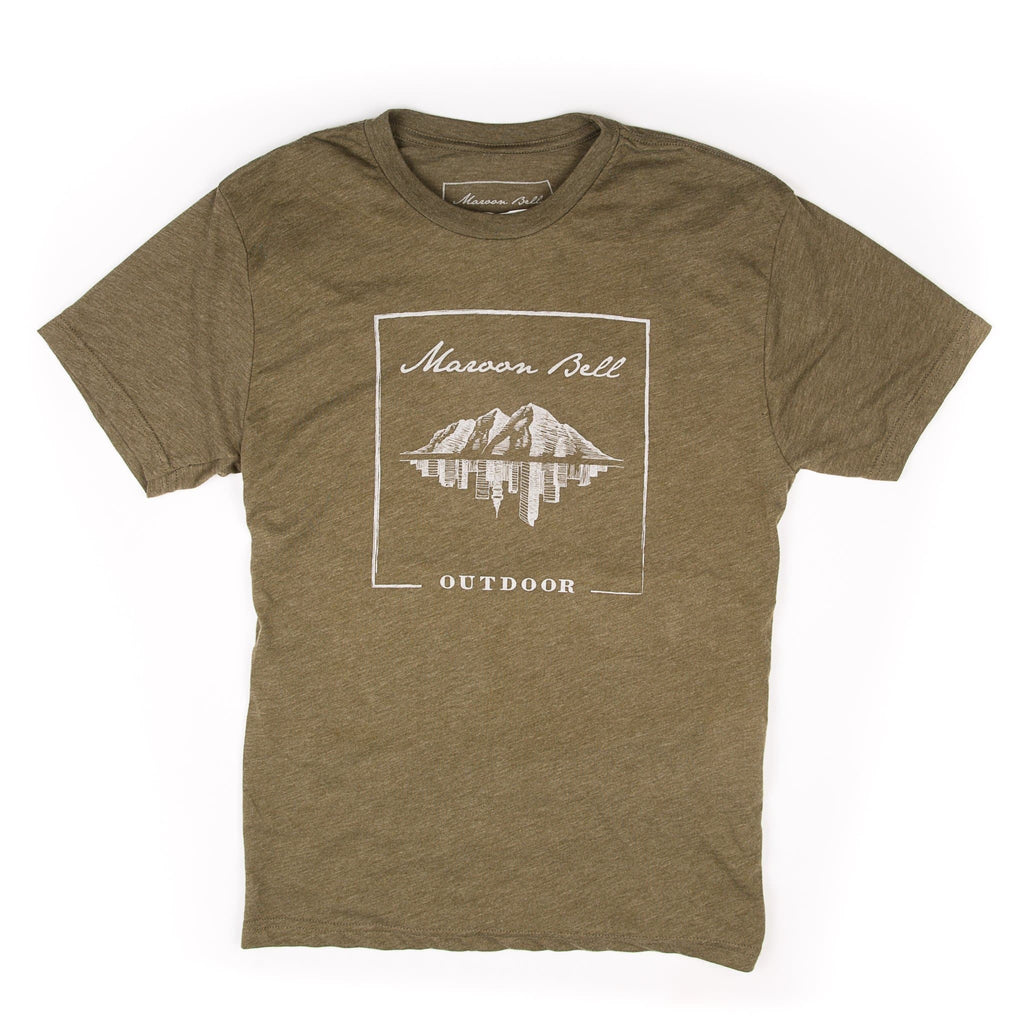 Maroon Bell Tee Shirt | LOGO | Military Green | Maroon Bell Outdoor®