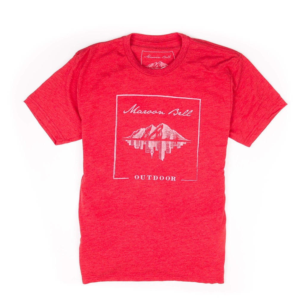Maroon Bell Tee Shirt | Mountain Reflection | Red