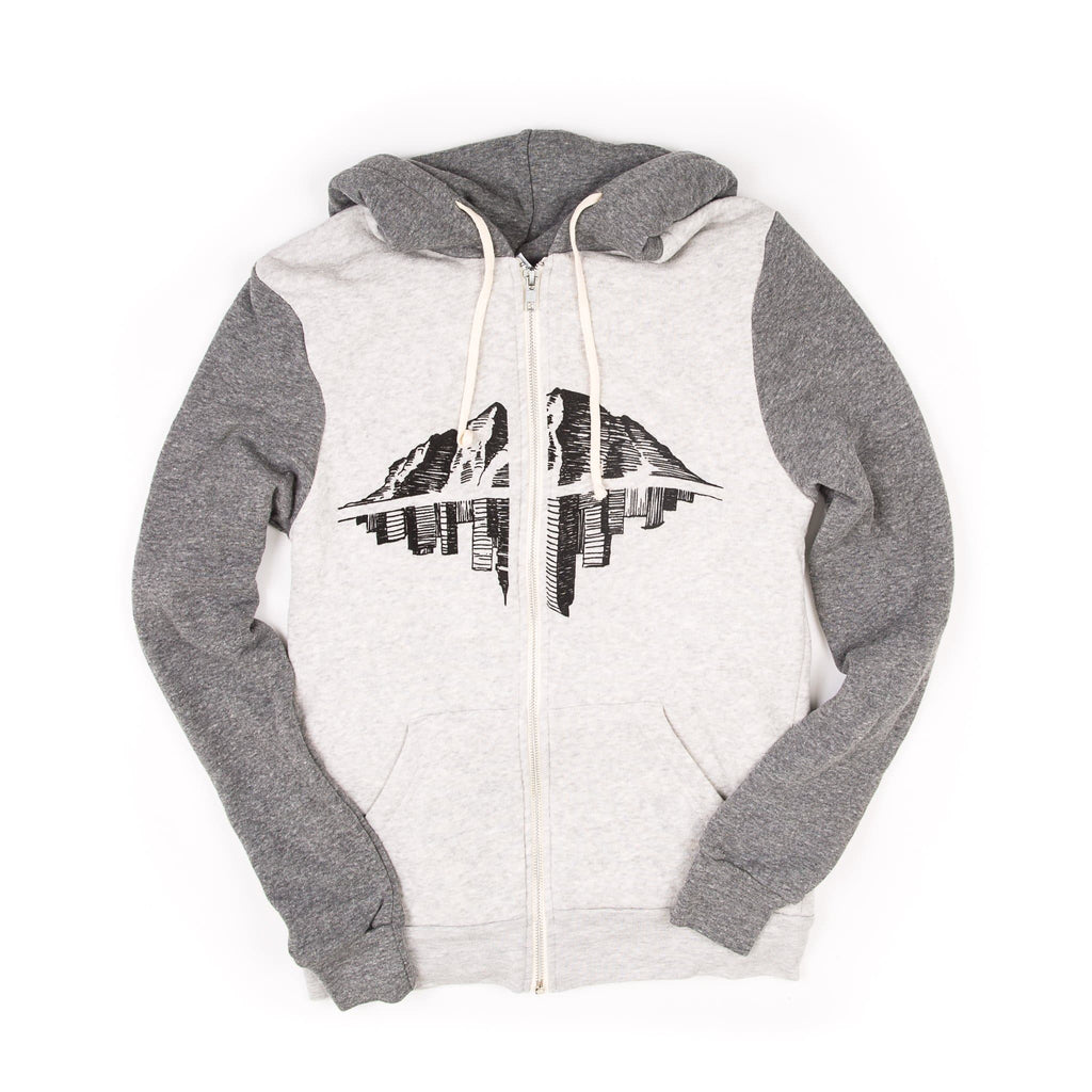 Zephyr Zip-up | Unisex | Grey & White | Maroon Bell Outdoor®