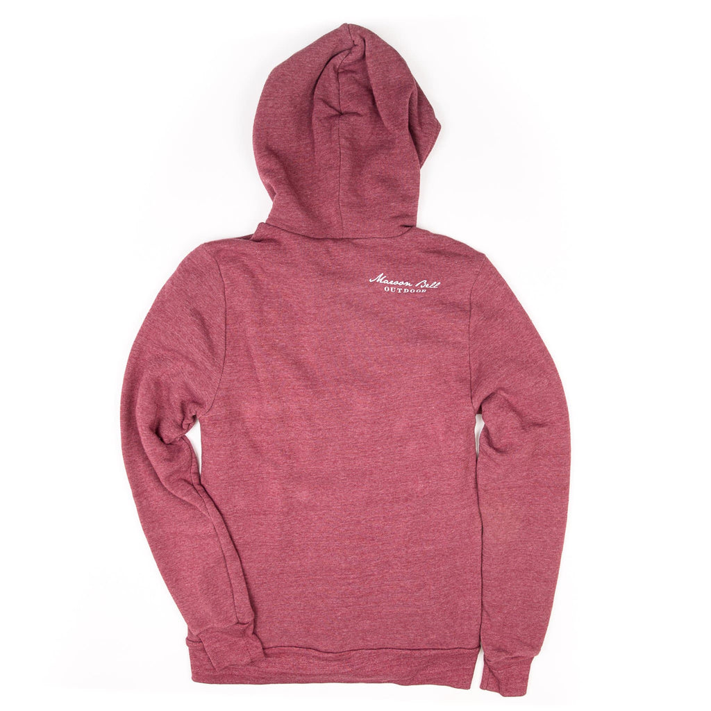 Zephyr Zip-up | Unisex | Maroon | Maroon Bell Outdoor®